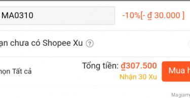 Nhập mã giảm giá Shopee thành công