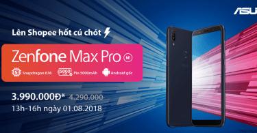 Asus Zenfone Max Pro M1 độc quyền trên Shopee