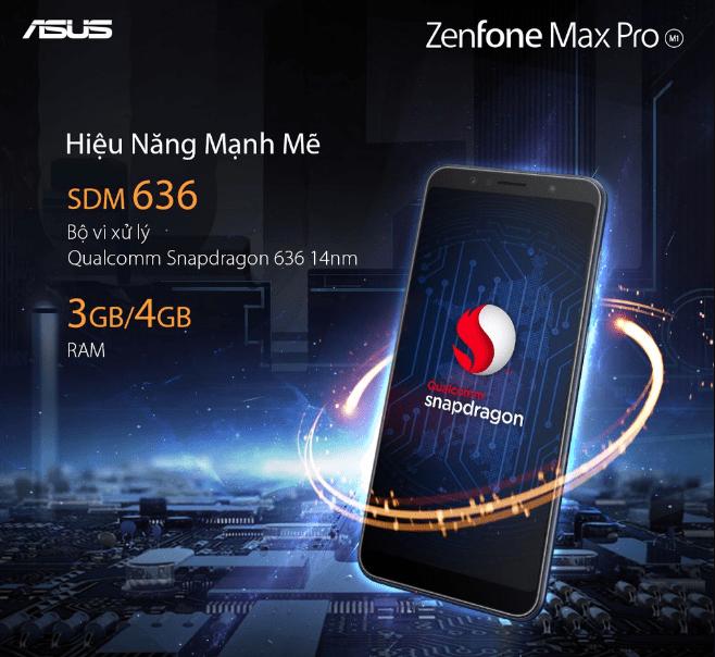 Asus Zenfone Max Pro M1 có hiệu năng mạnh mẽ nhờ chip Snapdragon 635