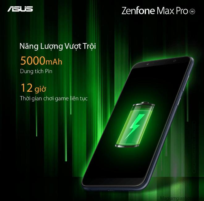 Asus Zenfone Max Pro M1 có viên pin 5000 mAh