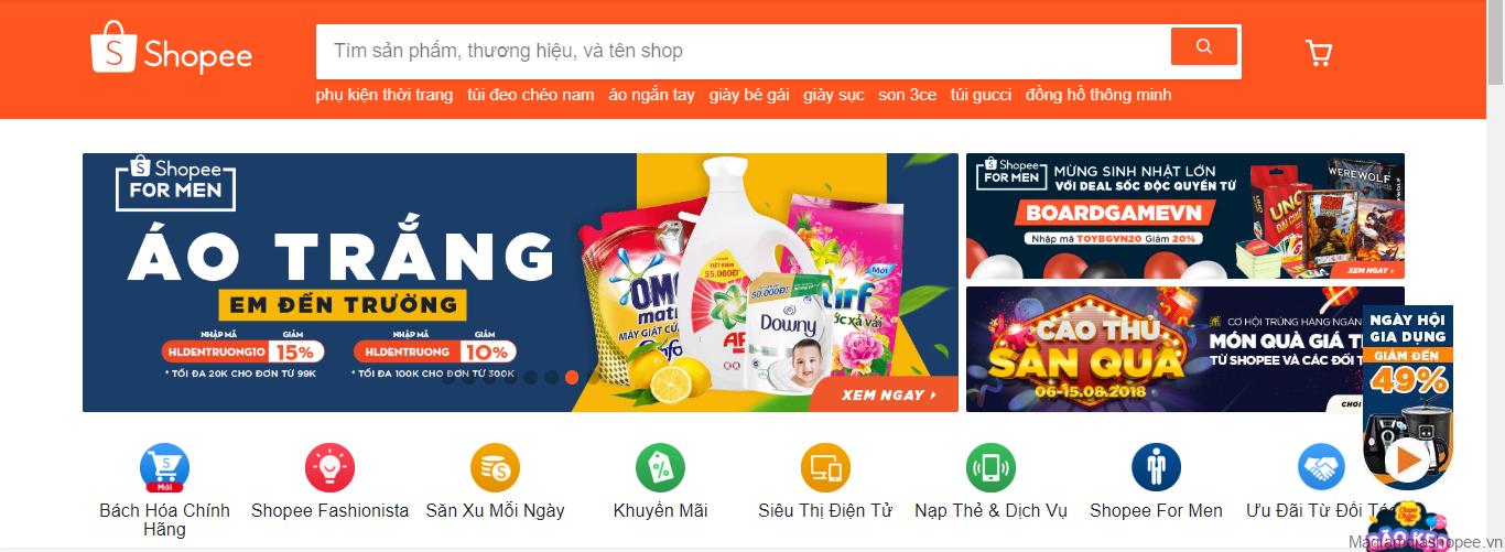 Mã giảm giá Shopee trên website và ứng dụng Shopee app