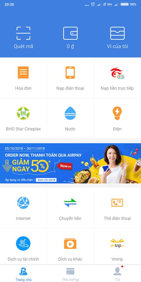 Liên kết ví điện tử Airpay nhận voucher shopee 111K
