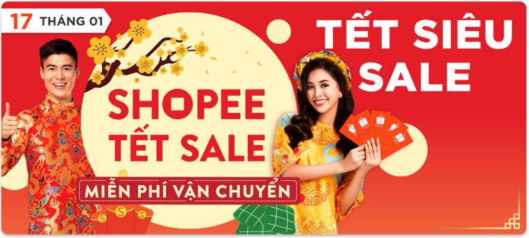 Shopee Siêu sale tết âm lịch 2019