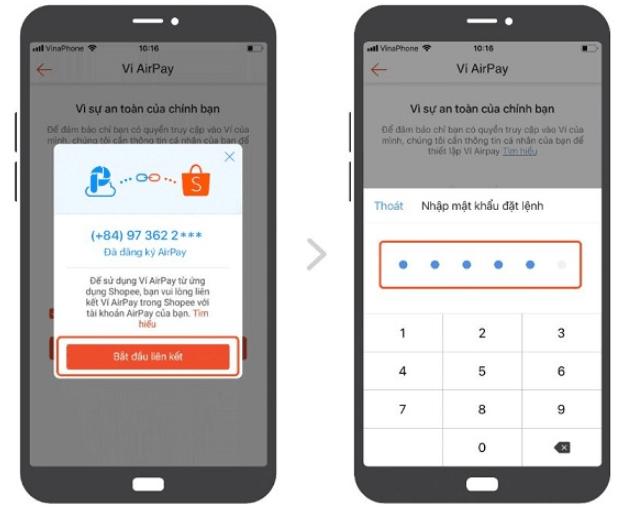 Hướng dẫn kích hoạt ví airpay trên Shopee