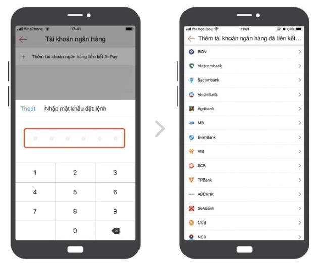 Hướng dẫn liên kết tài khoản ngân hàng với ví Airpay