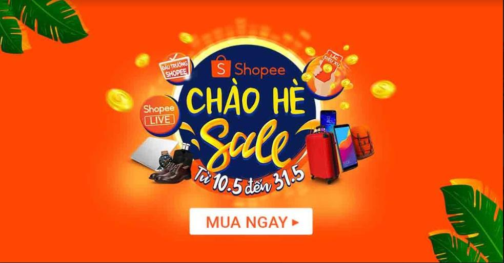 Nội dung khuyến mãi chương trình Shopee sale chào hè