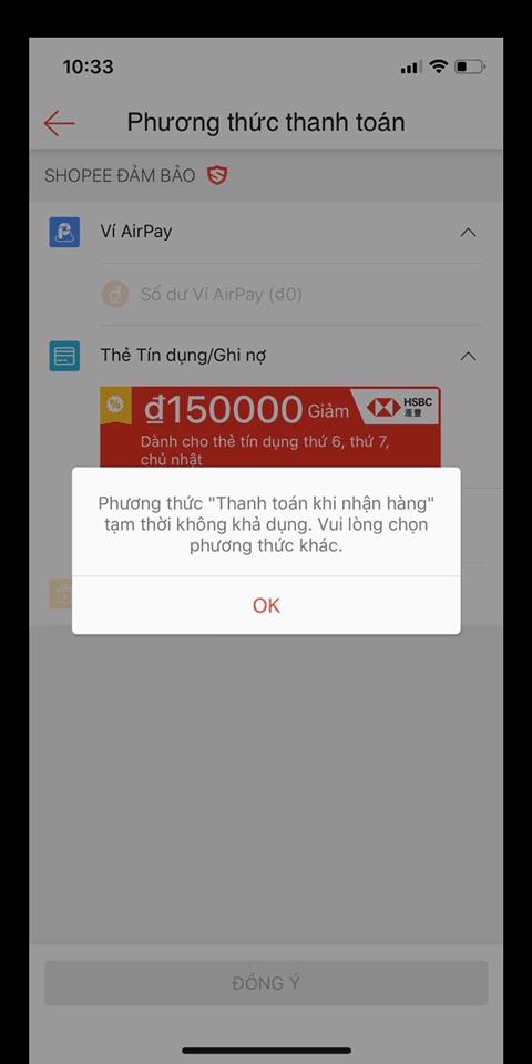 Shopee khóa tính năng thanh toán khi nhận hàng