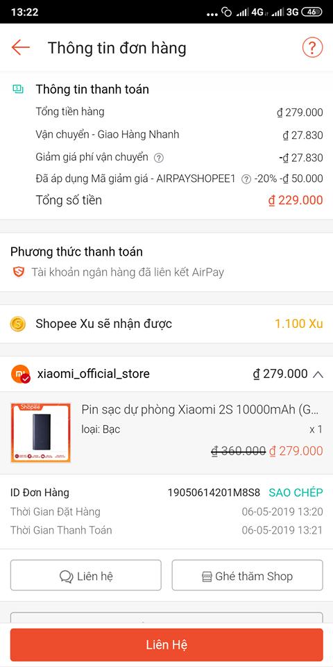 Hướng dẫn thanh toán bằng Airpay trên Shopee