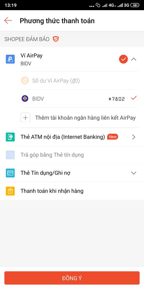 Hướng dẫn thanh toán bằng ví Airpay trên Shopee
