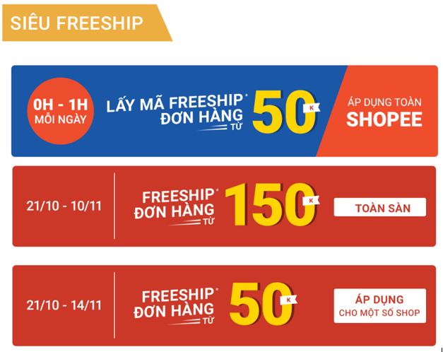 Shopee freeship 11.11