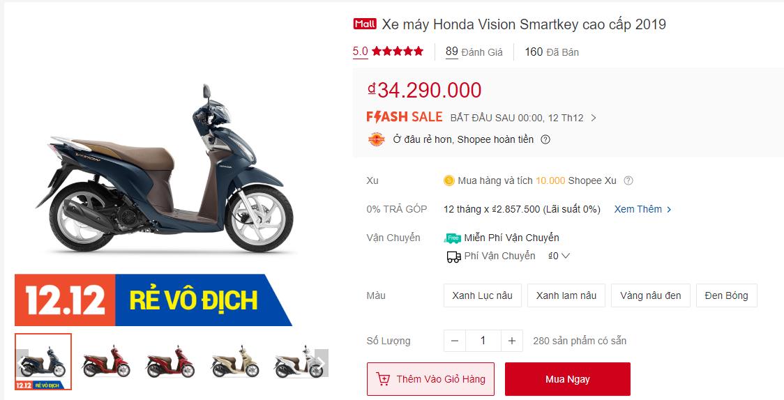 Honda Vision Shopee 12.12