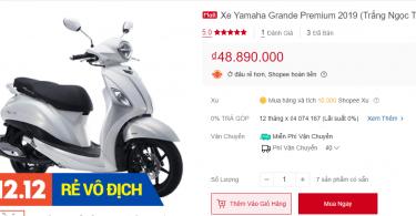 Xe máy Yamaha Grande 2019 Shopee