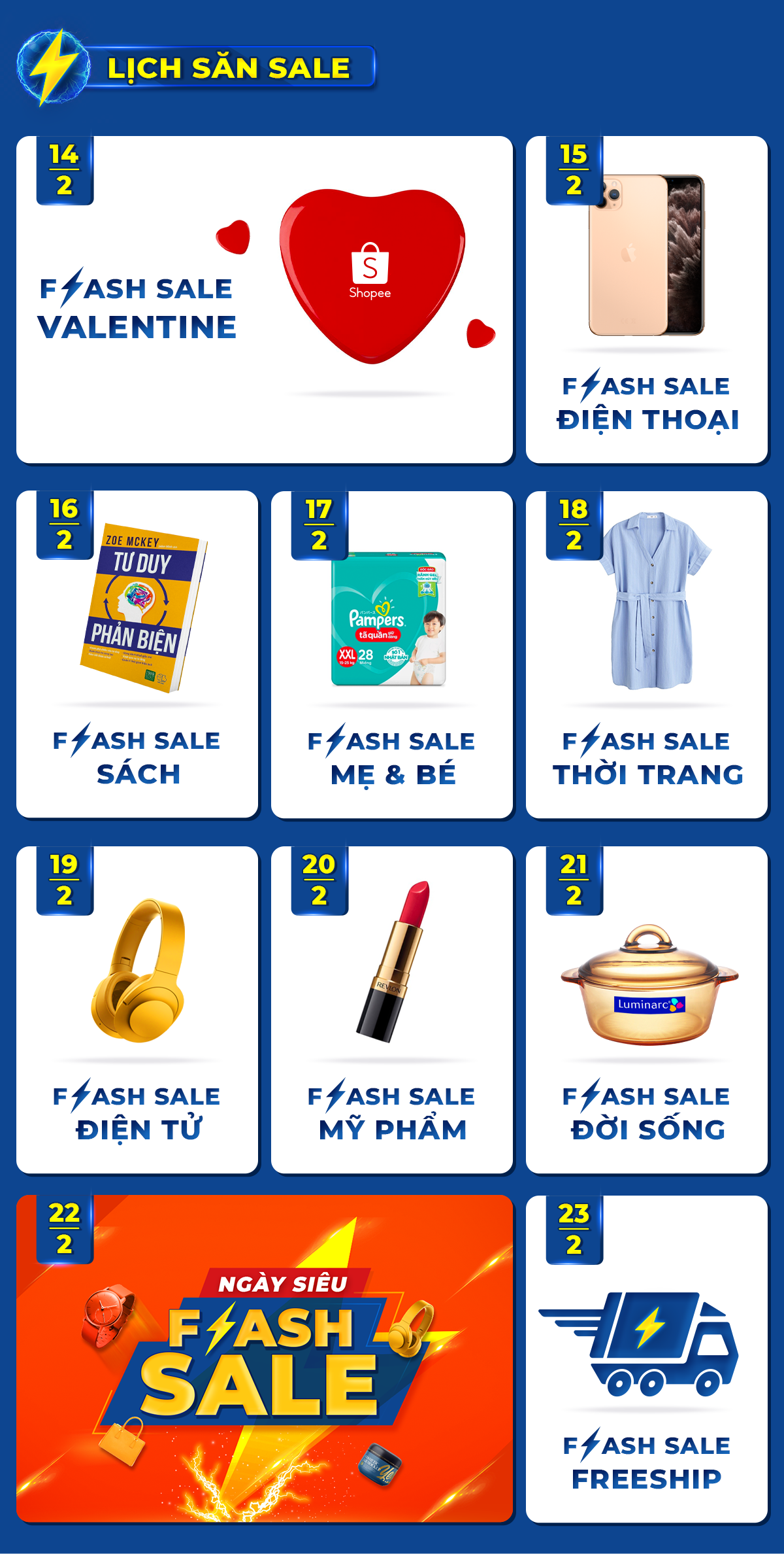Lịch săn Flash Sale Rẻ Vô Địch