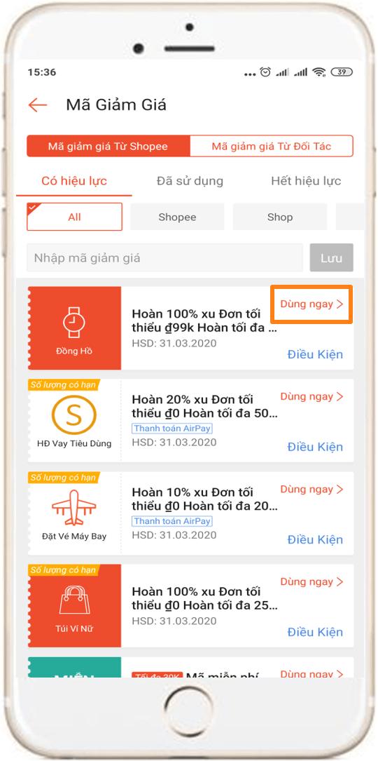 Kiểm tra mã giảm giá Shopee có dùng được cho sản phẩm mình muốn mua không