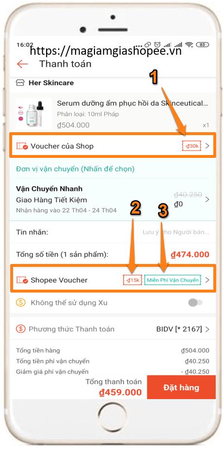 Cách sử dụng 3 mã giảm giá Shopee cho 1 đơn hàng