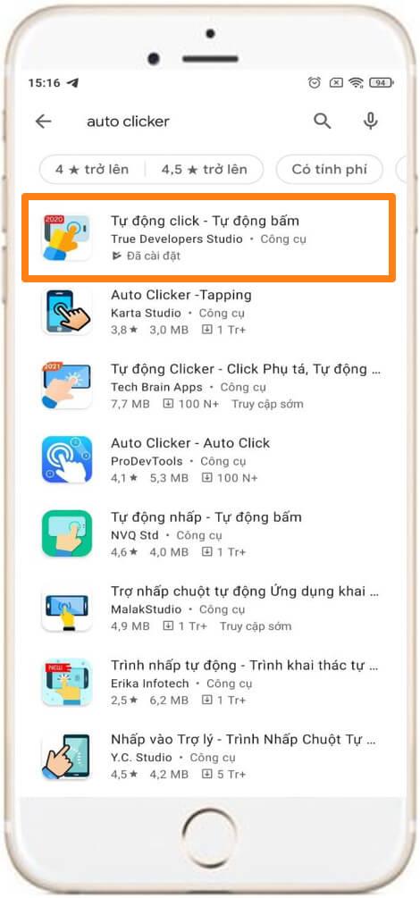 Hướng dẫn sử dụng auto click trên điện thoại